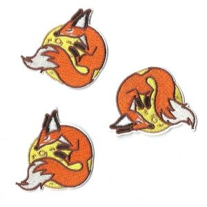 NEW MOON FOX EMBROIDERED PATCHES IRON ON 3-PACK